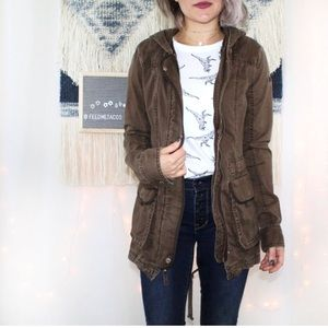 Abercrombie & Fitch Brown Utility Cotton Jacket